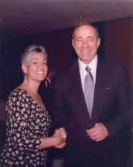 Linda A. Rios with New York Governor Mario Cuomo