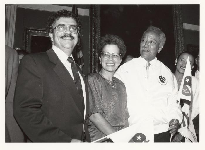 David Dinkins, Sally Piñero, Nydia Velázquez and the President of the PR Parade