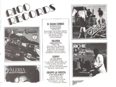 Rico Records advertisement