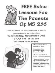 Free Salsa Lessons for the Parents of MS 256