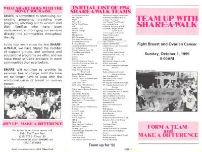 Team Up with Share-A-Walk: Fight Breast and Ovarian Cancer