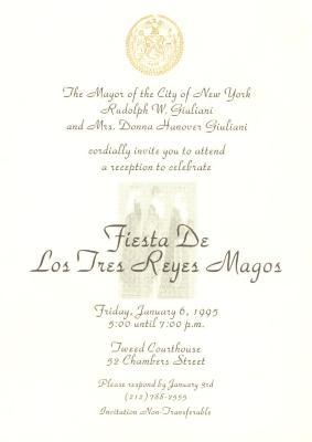 Fiesta de Los Tres Reyes Magos / Festival of the Three Wise Men invitation