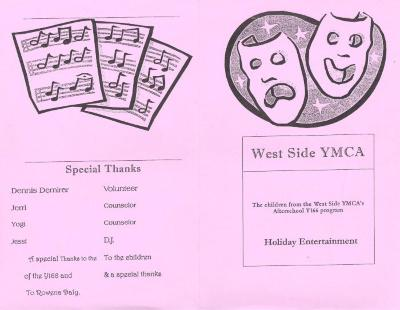 West Side YMCA - Holiday Entertainment program