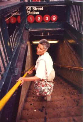 Linda A. Rios at the 96th St Station in New York City