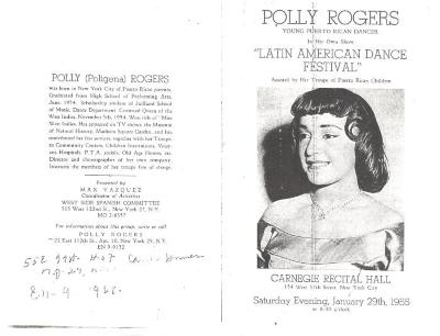 "Polly Rogers in ""Latin American Dance Festival"""