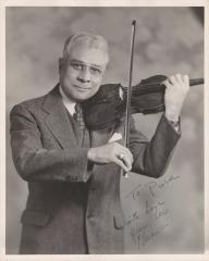 Clarence White portrait with violin