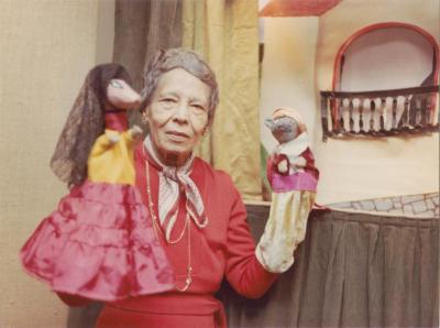 Pura Belpré with puppets